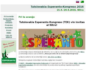 TER: Celoslovenské esperantské stretnutie