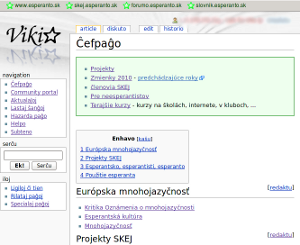 Vikio: wiki slovenského esperantského hnutia